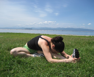 How to Do Head to Knee Pose