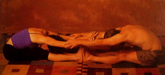 Partner Yoga Pose: Double Sandwich