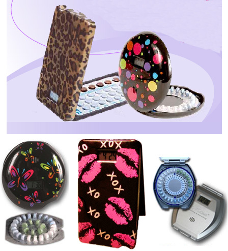 Birth Control Pill Cases Complete With Alarm