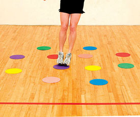 Use Agility Dots to Break Up the Boredom of Working Out