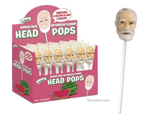 Product of the Day: Sigmund Freud Head Lollipop