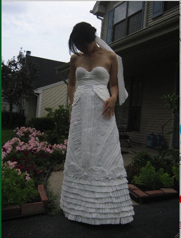 Toilet Paper Wedding Gowns
