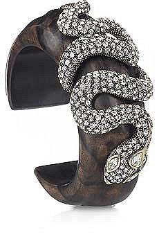 Roberto Cavalli Snake embellished cuff