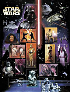 Star Wars Postage Stamps - Gets Yours Now Jedi Master