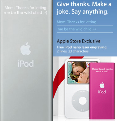 Apple Offers Free iPod Engraving For Mother's Day