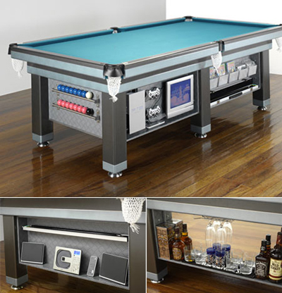 Billiards Table with Built-in TV/DVD