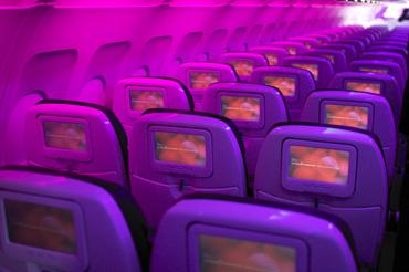 Mile High Geek: Peek At Virgin America's Planes