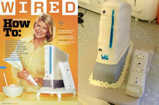 Edible Geek: Real Wii Cake Inspired By Martha Stewart