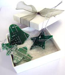 Circuitboard Ornament Set: Love or Leave?