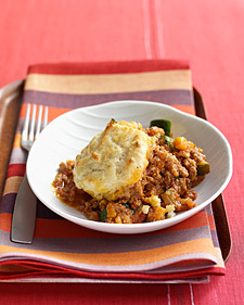 Monday's Leftovers: Bolognese Pie with Biscuit Topping