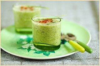 Yummy Link: Broccoli Soup and Salmon Eggs