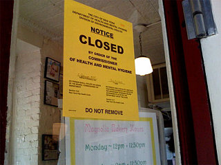 Yummy Link: Magnolia Bakery Shut Down by the Dept. of Health
