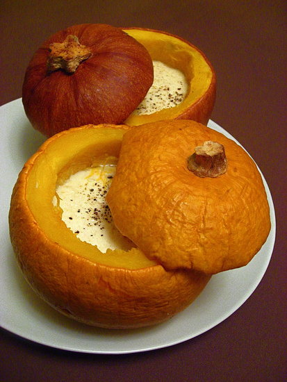 52 Weeks of Baking: Baby Pumpkins with Garlic Custard