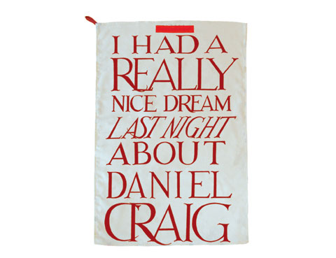 Emma Bridgewater's Whimisical Tea Towels Are Inspired by Daniel Craig