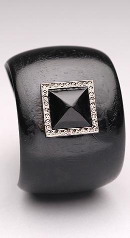 Black pyramid cuff