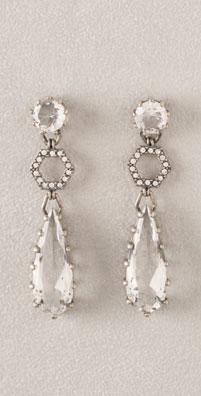 Lee Angel Jewelry Large Stone Drop Earrings
