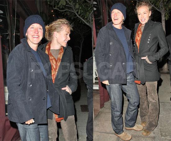 Ellen and Portia Brave the LA Winter