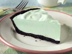 St. Patrick's Day Peppermint Pie