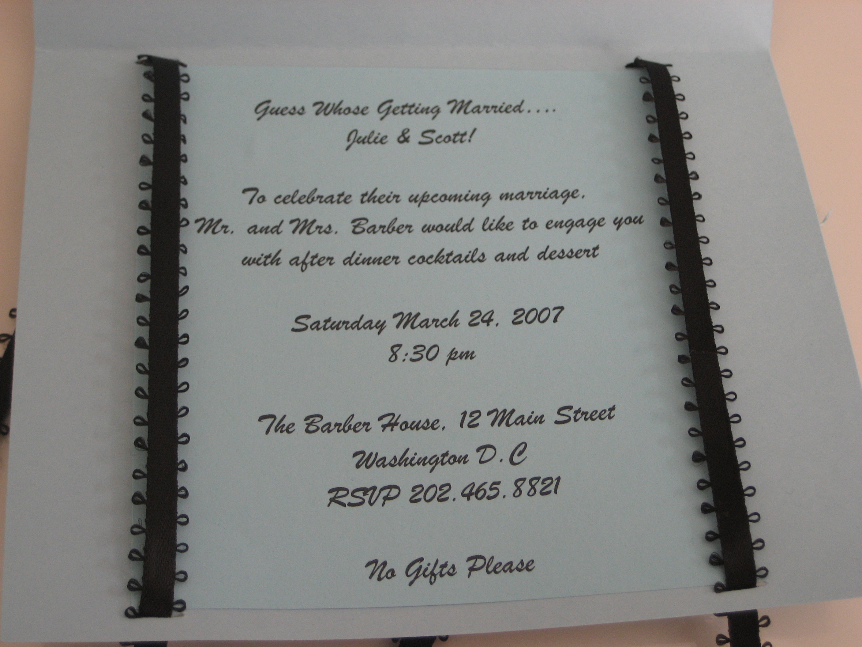 Come Party With Me: Engagement Party - Invites