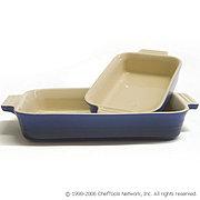 $20.99:  LeCreuset Rectangular Bakers, 2 pc. Set, Cobalt