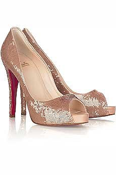 Christian Louboutin Very Prive paillette platforms - NET-A-PORTER.COM