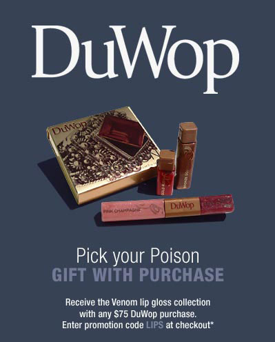 Bella Bargain: Free DuWop Gift with Purchase