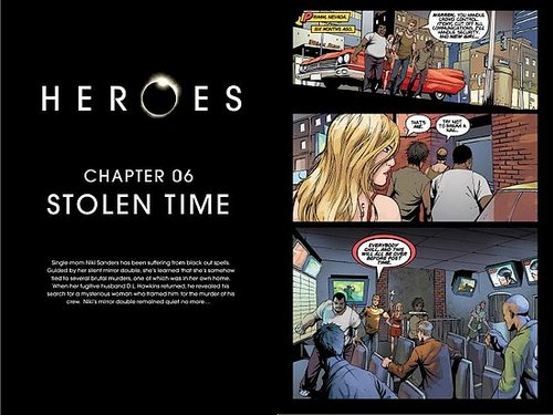 HEROES Graphic novel Chapter Six: Stolen time