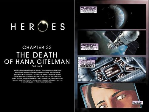 HEROES Graphic novel Chapters 33 and 34: The death of Hana Gitelman