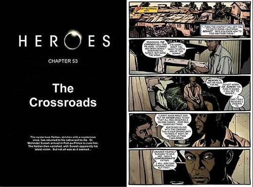 HEROES Graphic novel Chapter fifty three: The crossroads.