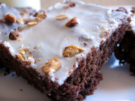 almond butter-hazelnut brownies