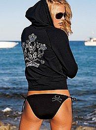 Victoria's Secret - Rhinestone skull halter top