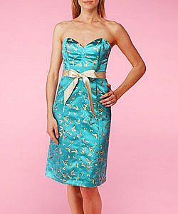 Butterfly Jacquard Strapless Dress - Betsey Johnson Official Store