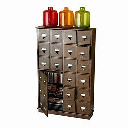 Target : Espresso Apothecary Media Cabinet