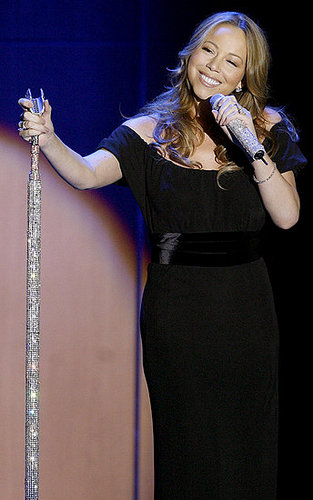 Mariah Carey and her jewel-studded microphone