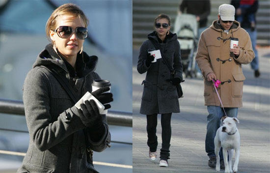 Celebrity Style Jessica 39 S Cozy Winter Look Popsugar Fashion
