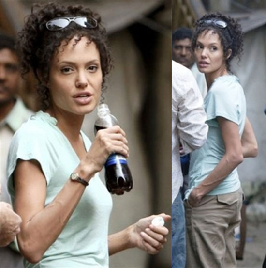 Angelina and Brad Leave Pune