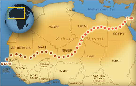 Where Is The Sahara Desert On A Map My Blog - Sahara desert location