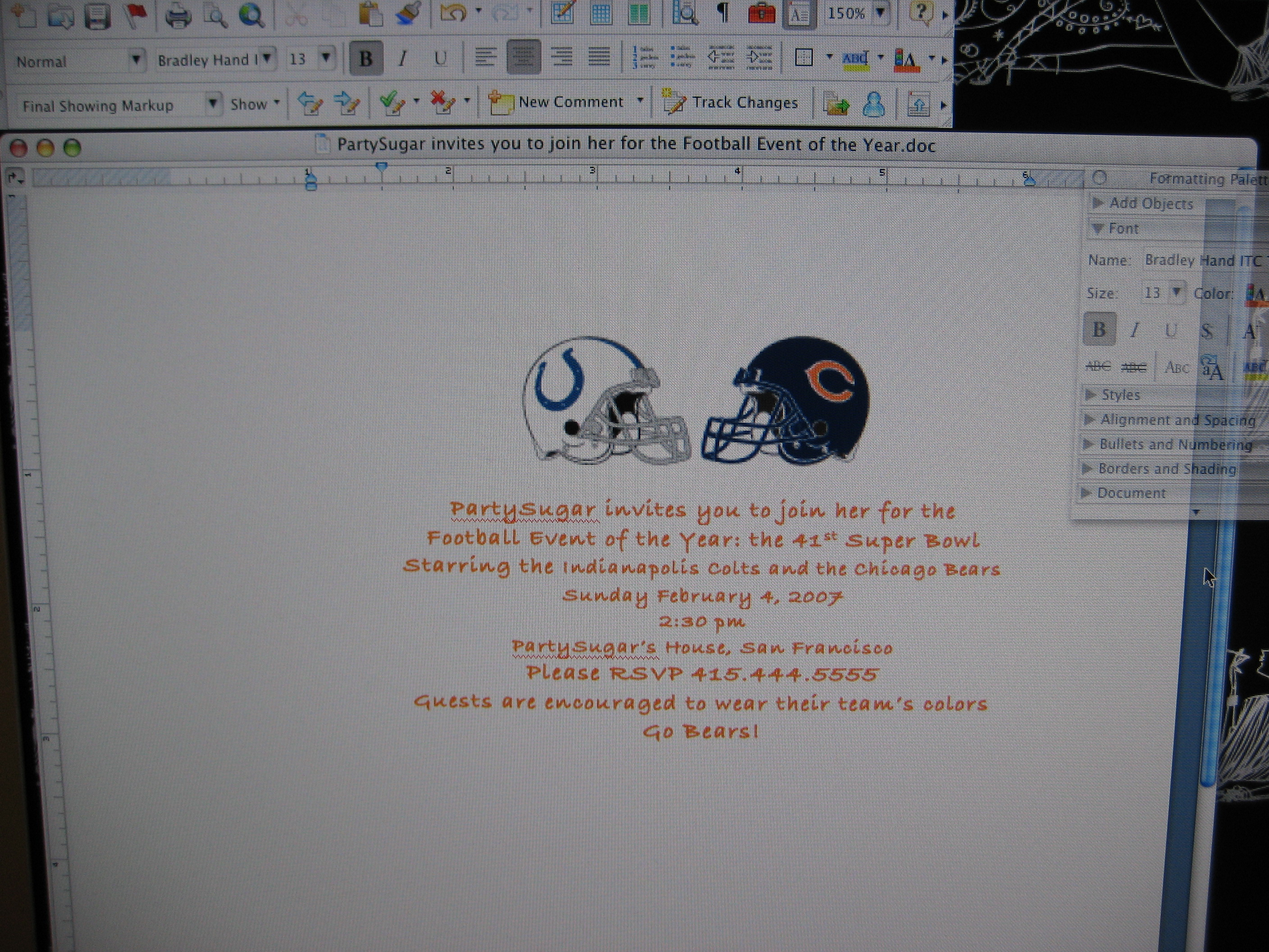 Come Party With Me: Super Bowl Party - Invites