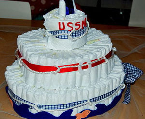 Anchor Shaped Diaper Cake