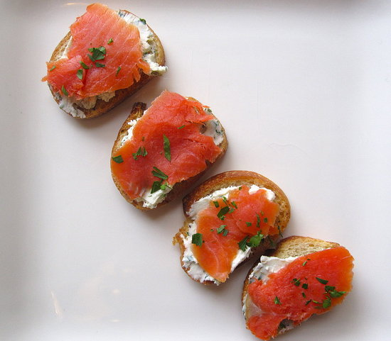 easy smoked salmon and goat cheese crostini recipe popsugar food. Black Bedroom Furniture Sets. Home Design Ideas