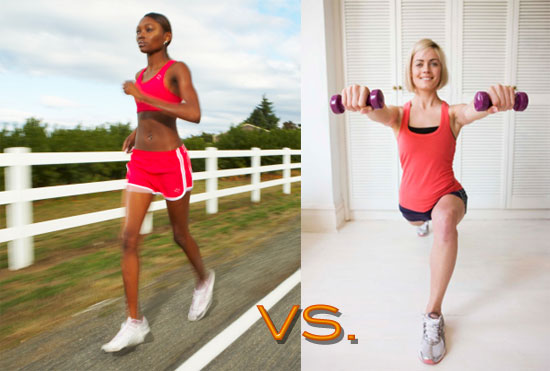 cardio vs weight training When it comes to cardio and strength training, it's not really a matter of one vs the otherin order to shed pounds and achieve your desired physique, you really need to do a combination of the .