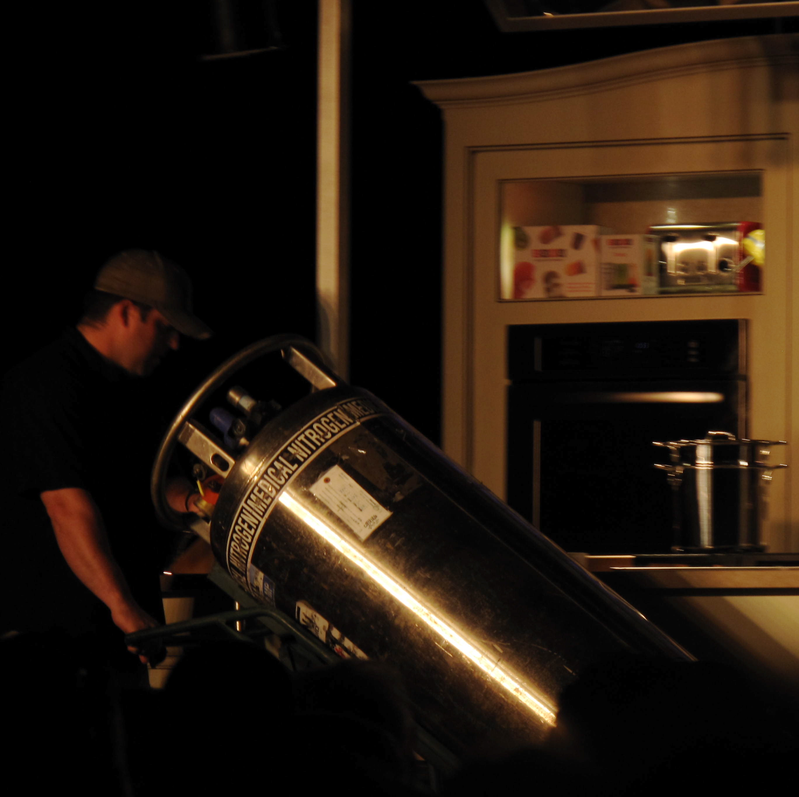 The Top Chef winner's strategy was actually to pull out all the guns — including this giant container of liquid nitrogen as a joke.