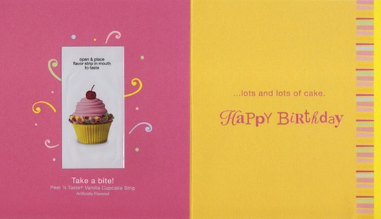 american greetings introduces tasties peel and lick greeting cards, Greeting card