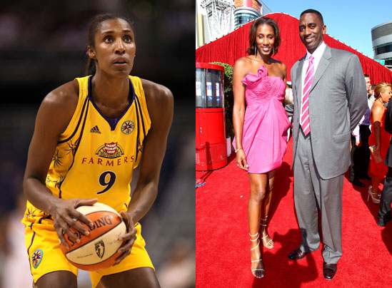 Lisa Leslie on Tennis, P90X, and Strawberries With Cream 7/29/10POPSUGARFitnessLisa LeslieExclusive Interview With WNBA Star Lisa LeslieLisa Leslie on Tennis, P90X, and Strawberries With Cream July 29, 2010 by Fitness18 Shares After presenting the high school basketball star Chiney Ogwumike with the Gatorade Athlete of the Year award, WNBA legend Lisa Leslie was able to sit down with me for a short chat. Thank goodness we were sitting, since the four-time gold medal Olympian is a whole foot taller than I am. Standing at 6' 4