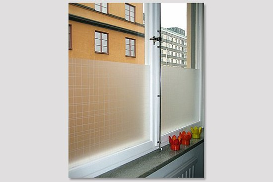 use window film to decorate windows and create privacy popsugar home. Black Bedroom Furniture Sets. Home Design Ideas