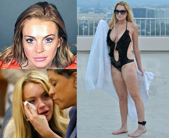 of 2010 lindsay lohan lands in jail rehab and finally sober living