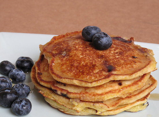 Blueberry Cornmeal Griddle Cakes