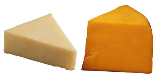 White vs. Yellow Cheddar