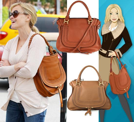 Get Reese Witherspoon\u0026#39;s Tan Shoulder Handbag by Chloe | POPSUGAR ...