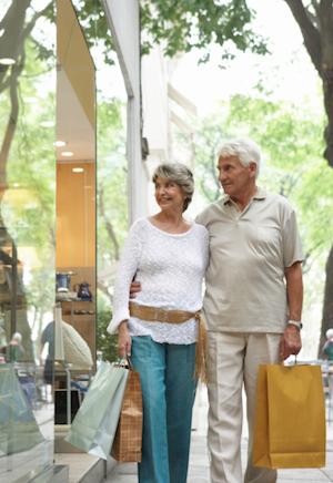 elderly shopping